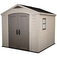 Keter Plastic Factor Apex Shed  8 x 8ft