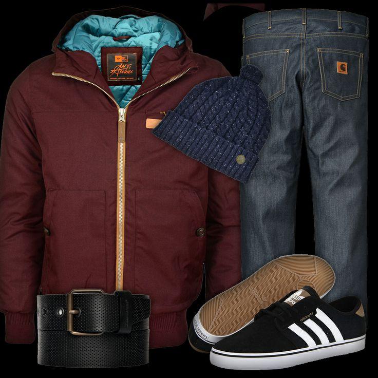 Abrigo #RipCurl Gorro #MercLondon Pantalones #Carhartt Cinturón #LoreakMendian Zapatillas #Adidas