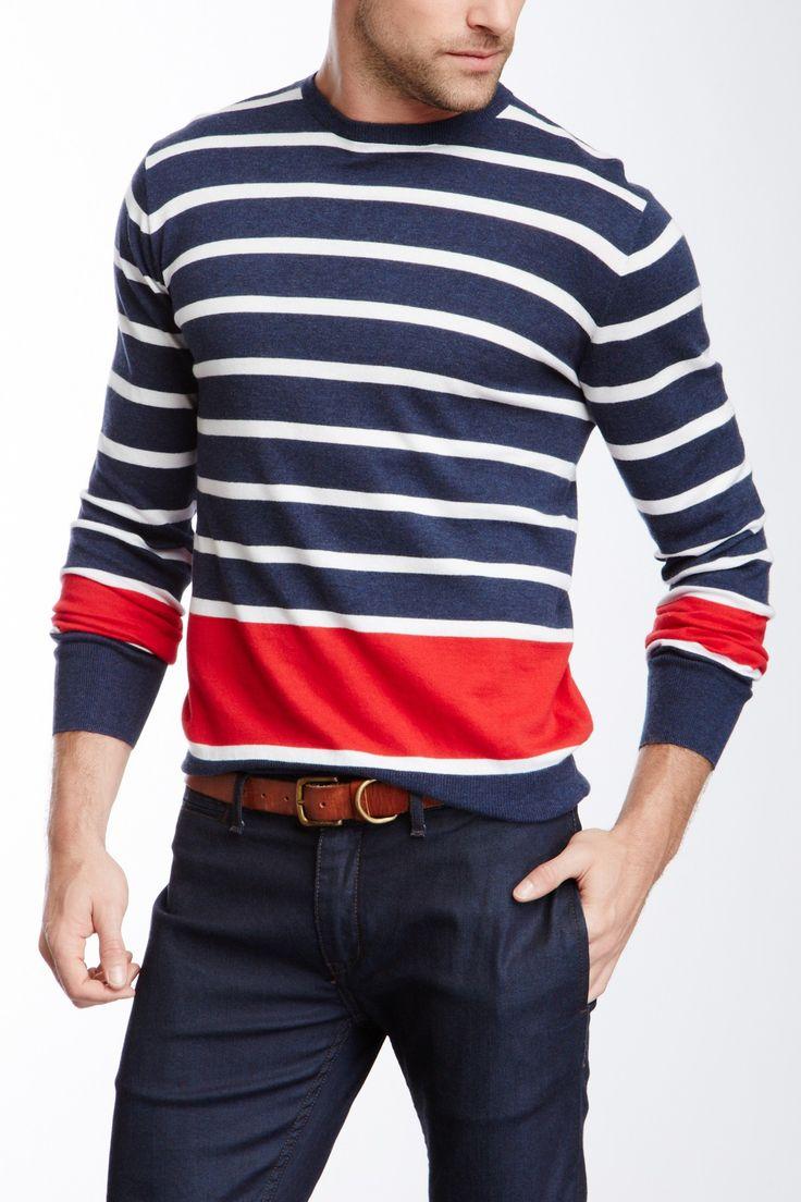 Stripe Crew Neck Pullover on HauteLook