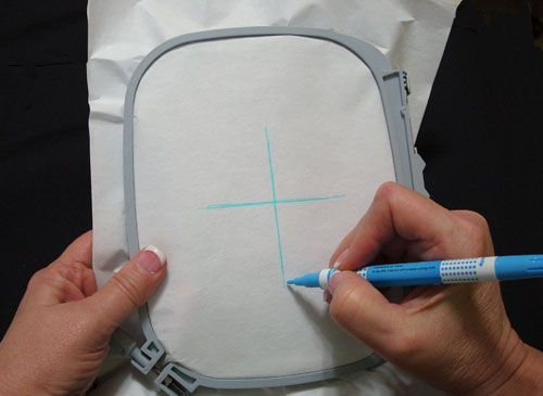 Learn how to hoop without a hoop! There are times when hooping fabric and stabilizer together as a unit for embroidery is impossible. This is the case with very small articles such as collars, edges of clothing, napkin edges, etc.
