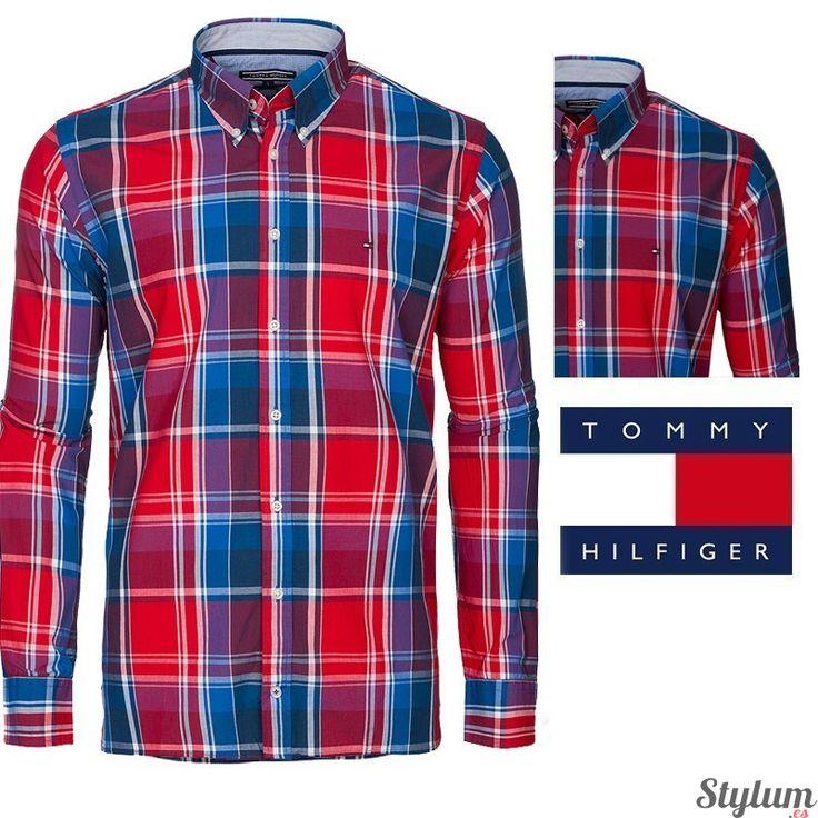 Camisa de cuadros para hombre de Tommy  Hilfiger en colores rojos y azules.  Tipo: manga larga. Ajuste: Custom Fit. Estilo: de cuadros. Logo bordado en el pecho. Composición : 100% Algodón. Entrega en 24/48 horas. #camisas #tommy #modahombre #algodon #tendencia #primavera2016