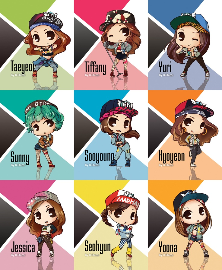 SNSD I Got A Boy Caricature By DShuyu Taeyeon Tiffany