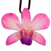 Pink-Dendrobium Necklace $40