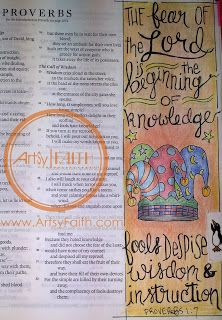 Artsy Faith | Proverbs 1:7 Bible Journaling | Bible Art Journaling