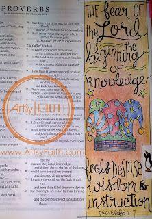 Artsy Faith | Proverbs 1:7 Bible Journaling | Bible Art Journaling