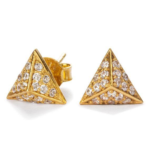 Polaris stud earrings / cosmos collection / black Betty