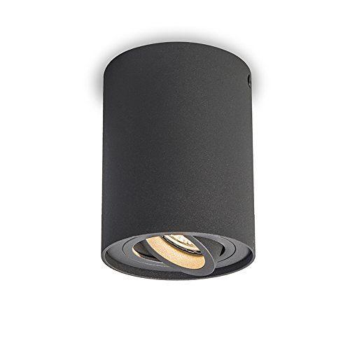 QAZQA Design, Moderne Spot de Plafond Rondoo Up gris foncé, Aluminium, Cylindre / Compatible pour LED GU10 Max. 1 x 50 Watt QAZQA http://www.amazon.fr/dp/B01587AF36/ref=cm_sw_r_pi_dp_ckIOwb09PWZN8
