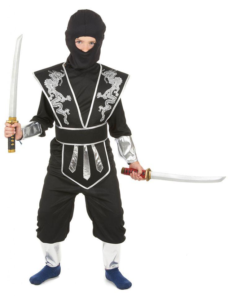 Este disfraz de ninja negro para niño es perfecto para la fiesta de Carnaval