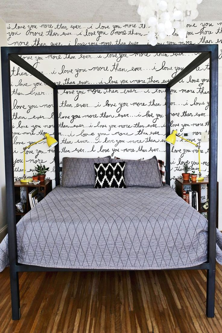 We just fell head over heels for this #DIY handwritten wall #decor #home #love