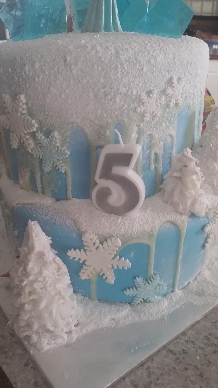 Disney Frozen 2 tier cake