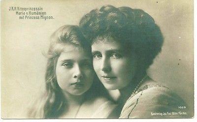 ROMANIA ROYALTY M.S.QUEEN MARIA Princess Maria Mignon ,old original postcard,very good condition ,please see the scan!