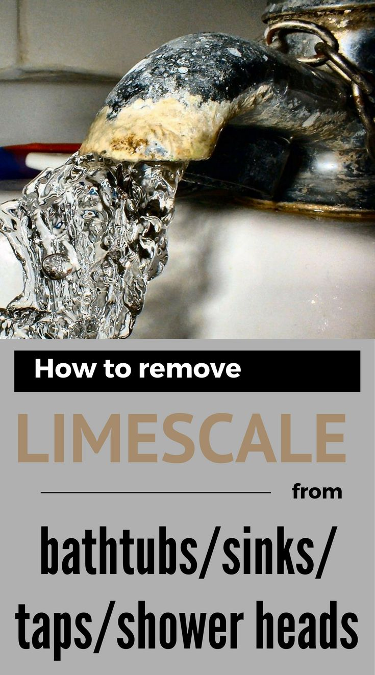 How to remove limescale from bathtubs, sinks, taps and shower heads.