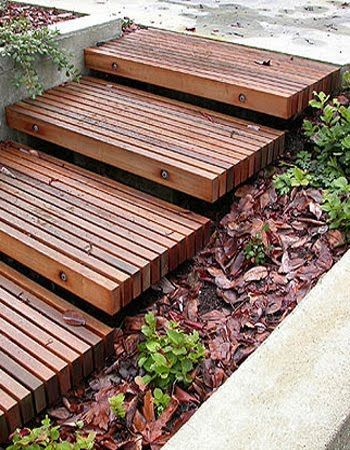 Timber steps #staircaseandsteps #landscaping