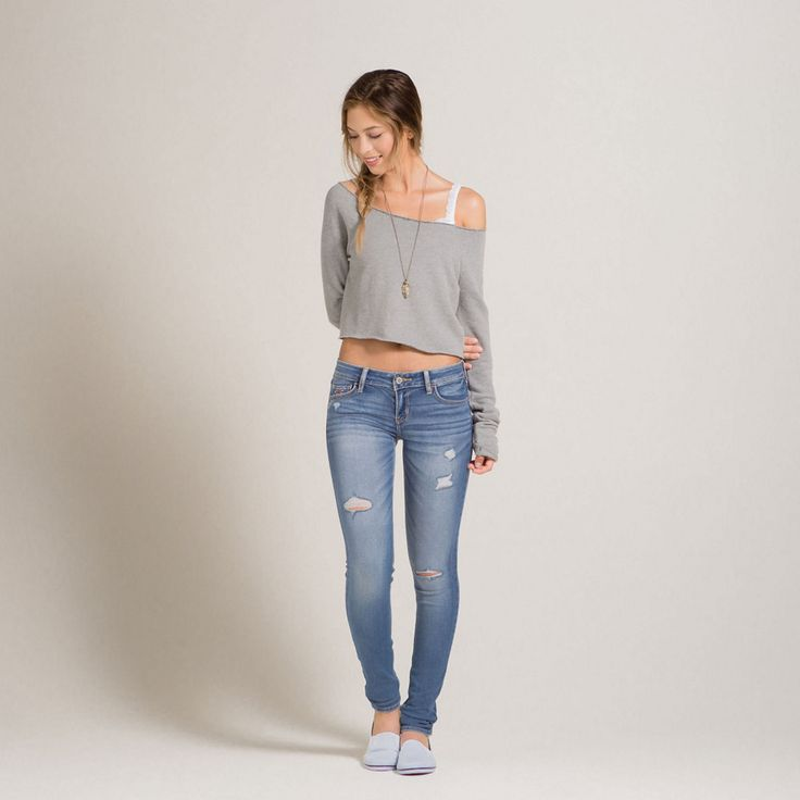 Best 25+ Hollister jeans ideas on Pinterest | Hollister jeans outfits Super skinny jeans and ...