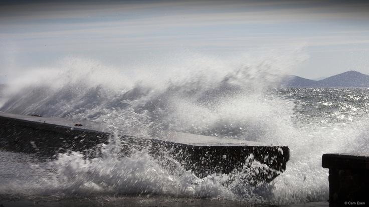 Crashing waves...
