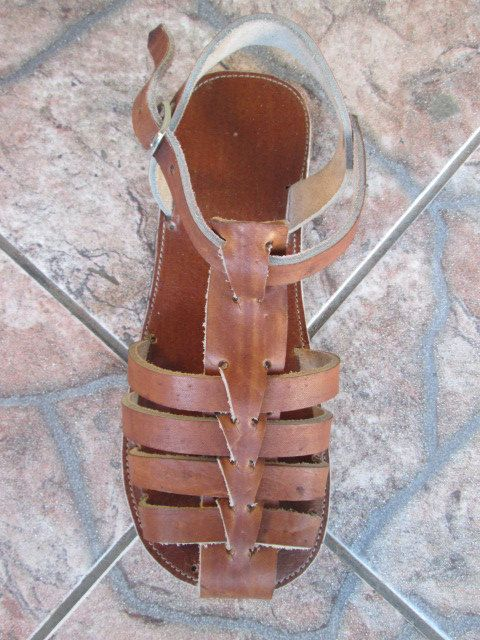 Handmade leather sandals for man or woman by handicraftafrica