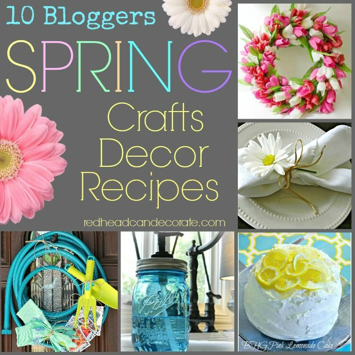 50 Spring Craft, Decor, & Recipe Ideas…from wreaths, to napkins holders on Easter.  Everything in one spot!