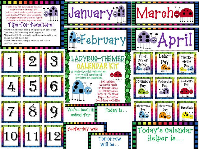 End Of Year Calendar : Monday linkies end of the year calendar sets and