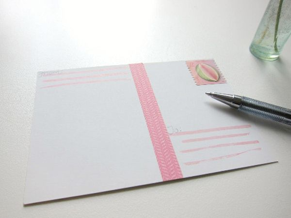 Upcycled greeting card