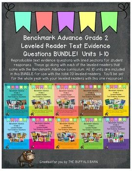 Benchmark Advance Leveled Reader Questions BUNDLE- 2nd (SECOND) Grade