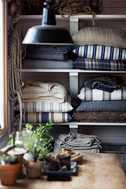 Gant Home Collection: Bringing a piece of this collection into your home is bringing a small piece of Montauk home.