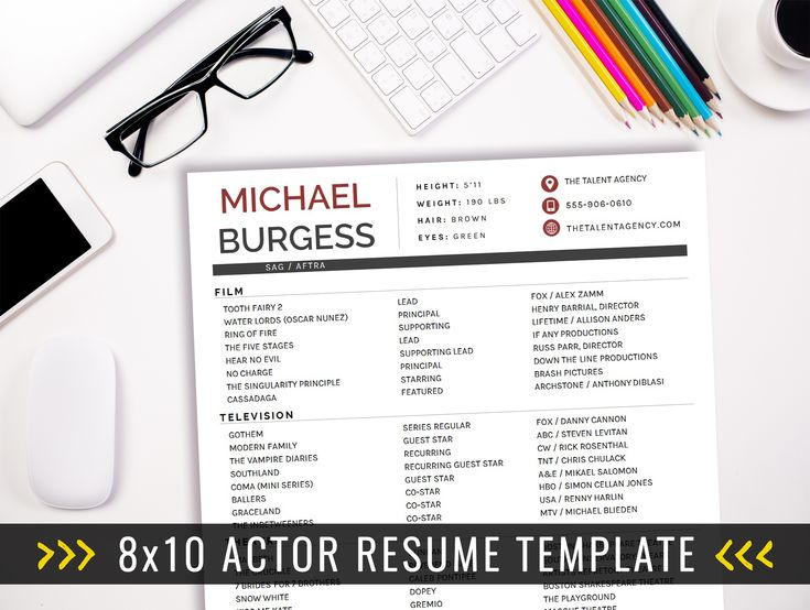 Best 25+ Acting resume template ideas on Pinterest Free resume - acting resume template for microsoft word