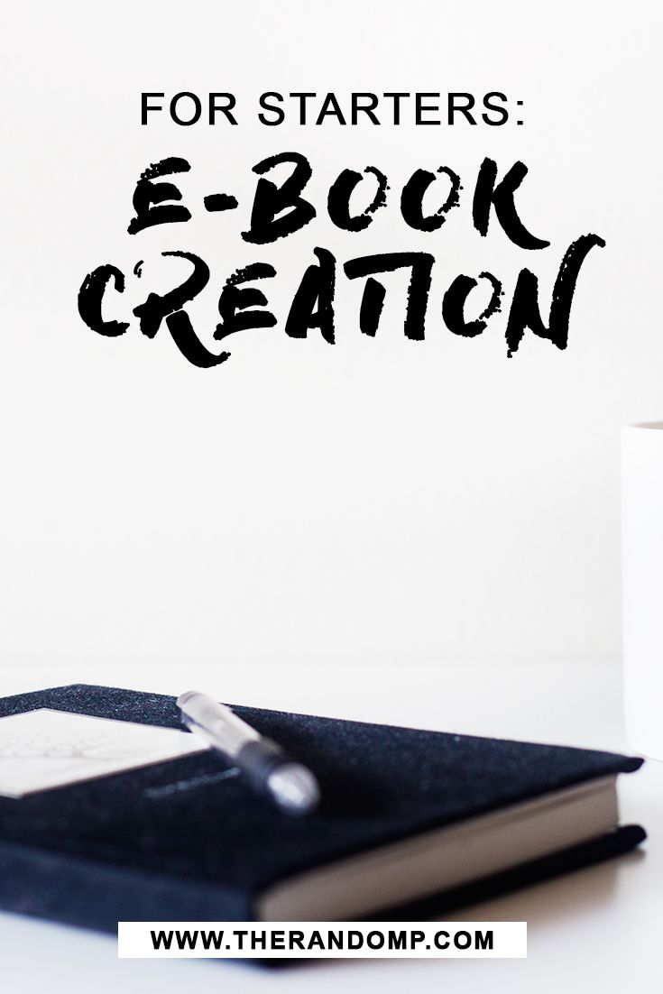 Everything you need to know to get started on e-book creation! http://therandomp.com/blog/e-book-writing-experience-tips