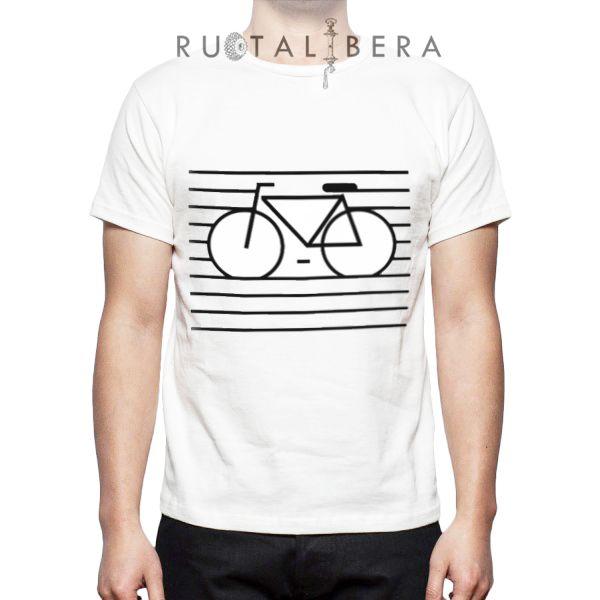 RUOTALIBERA Men t-shirt Modello/Model: Face as bike Colore/Colour: bianco/white taglia/size: n/a