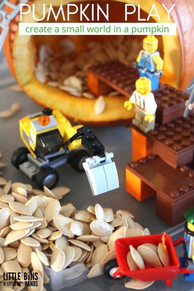LEGO Pumpkin Play Small World Fall Activity for Kids
