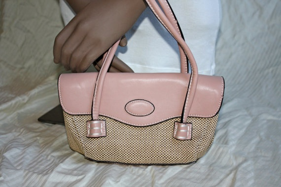 Pale Pink 50s Inspired Handbag by in2purses2010 on Etsy, $12.00