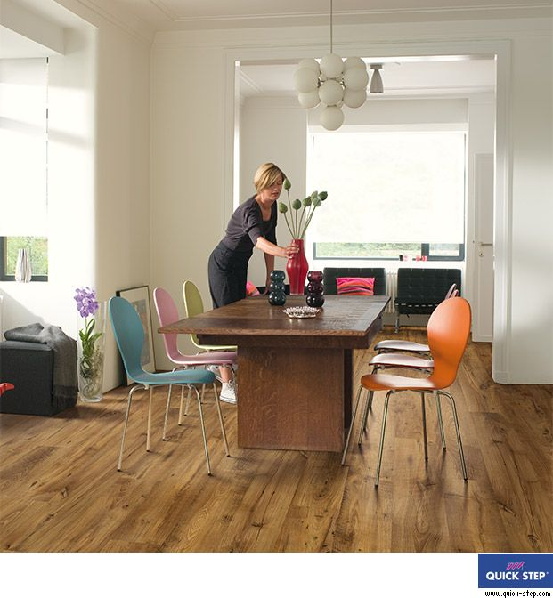 laminate wood floors wide plank   UW1543 - Reclaimed chestnut antique, planks