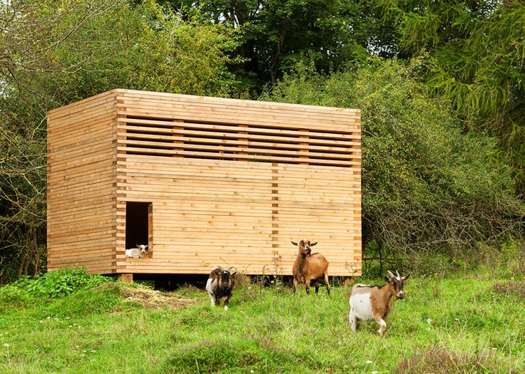 Michael Kühnlein builds a timber barn for his herd of goats...lucky goats! stacked plank can be for more than just barns...