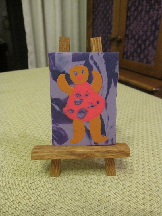 Polymer clay, original aceo 2,5 x 3,5 inches, fimo by Brigitte