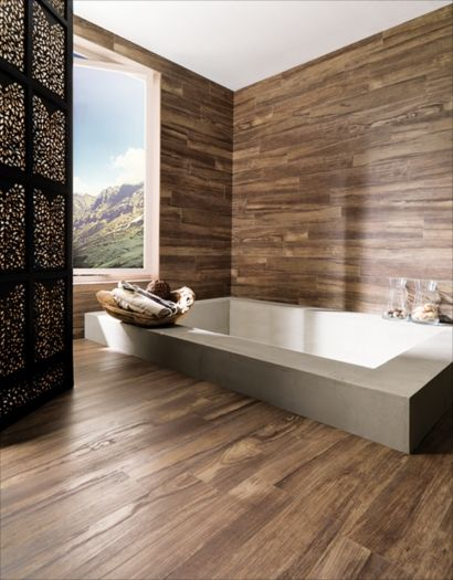 Porcelanaosa - Montreal Noce - tile looks like wood