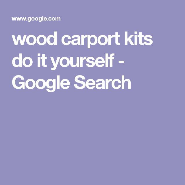 wood carport kits do it yourself - Google Search