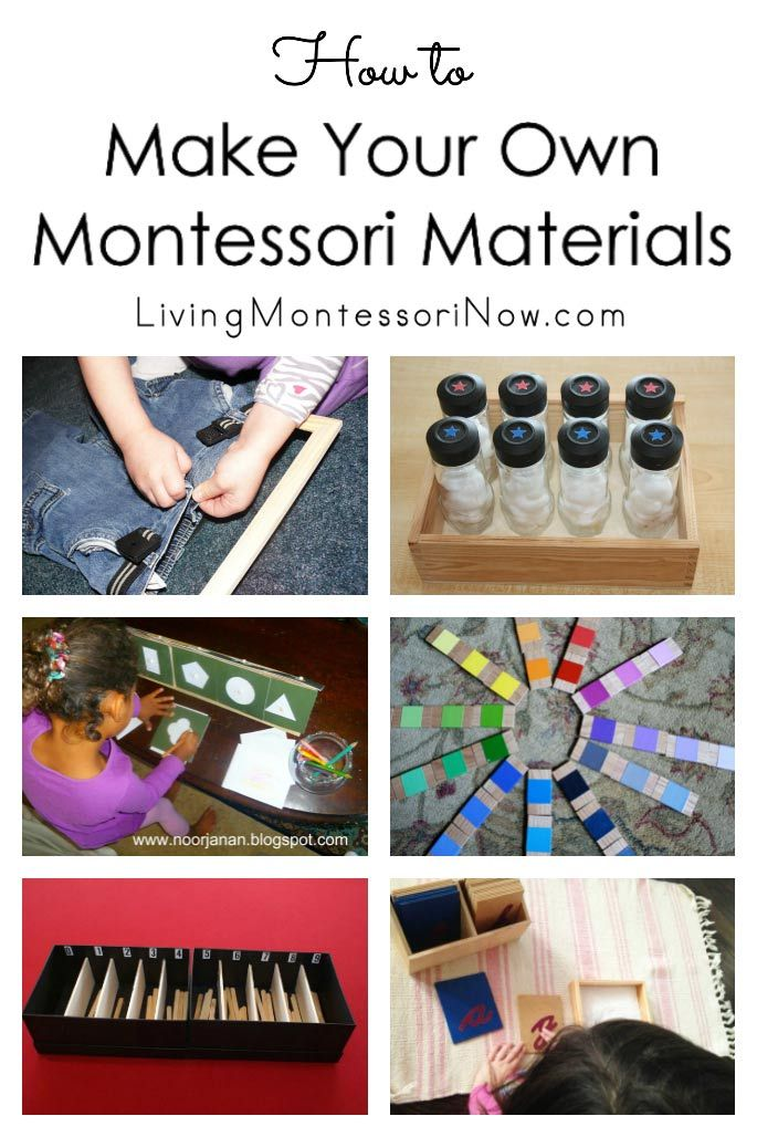The resources needed to make your own Montessori materials; perfect for homeschoolers; resources for DIY Montessori materials in every curriculum area - Living Montessori Now #homeschool #Montessori #DIYMontessori #DIYMontessorimaterials #preschool #kindergarten