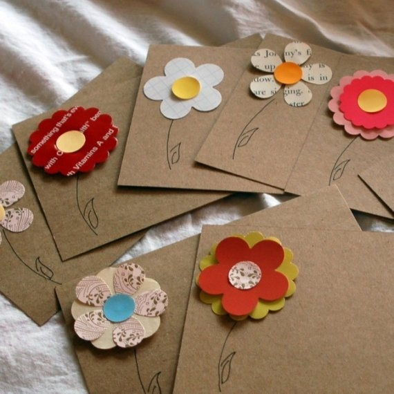 Vintage Flower Recipe Cards