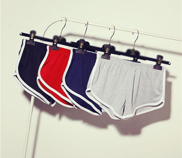 10 цвет American apparel Sportwear Случайные Шорты для Женщин Шорты для Бега femme купить на AliExpress