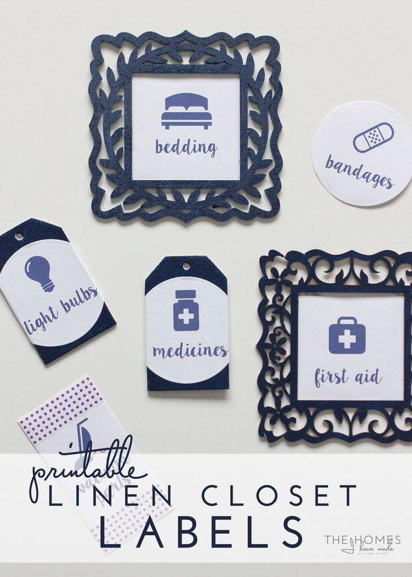 Printable Linen Closet Labels   Get Your Closet Organized Today!