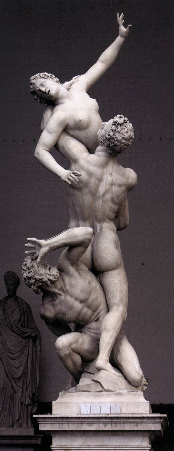 Giambologna, Rape of the Sabines  1581/ 1583  Marble, height 410 cm  Loggia dei Lanzi, Florence