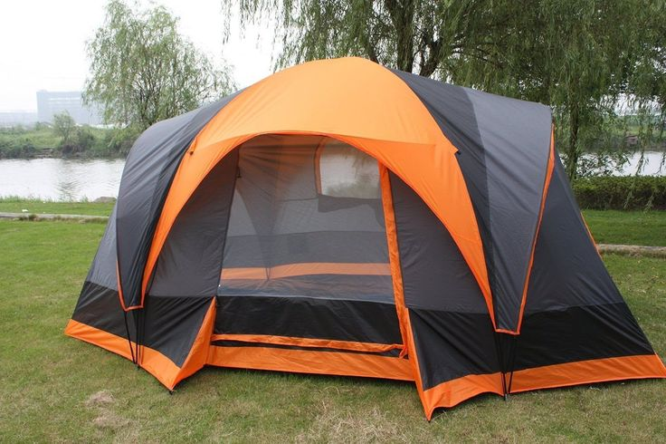 Fanala Outdoor 8 Person Double Layer Camping Hiking Cabin Family Tents Waterproof >>> Check this awesome image  : Hiking tents