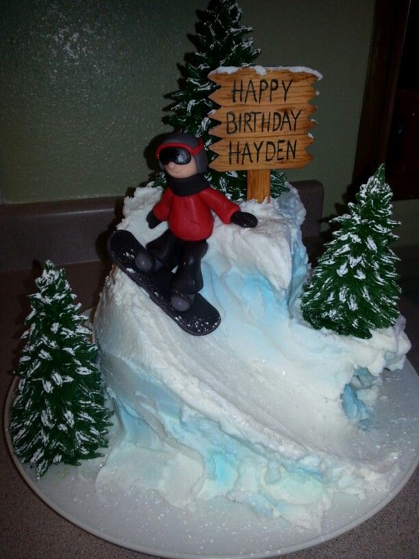 Snowboarder Cake Snowboard Cake Cupcake Cakes Cake