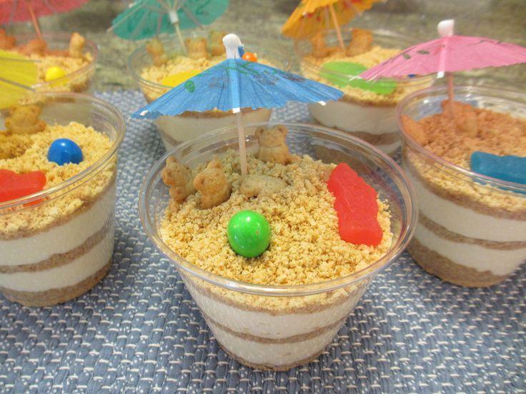 June Feast: Sand Pudding Cups, recipe, dessert, beach, cookies, candy, food