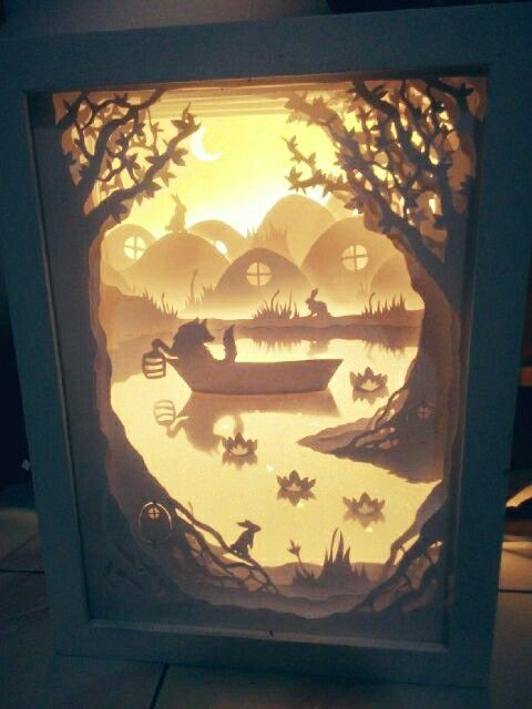 Shadowboxlight handpapercut