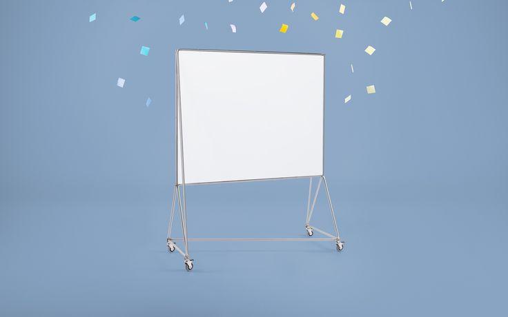 Design Thinking Möbel - Whiteboard DT-Line   Das Whiteboard ist mobile Stellwand, Projektionsfläche, Pinnwand und Raumteiler in Einem. Es ist magnethaftend, beidseitig beschreibbar und platzsparend ineinander stapelbar.