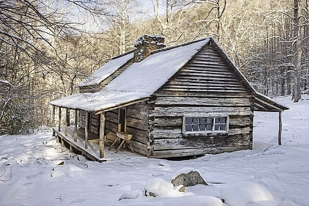 winter mountain cabin | Smoky Mountains photos in Winter © William Britten use with ...
