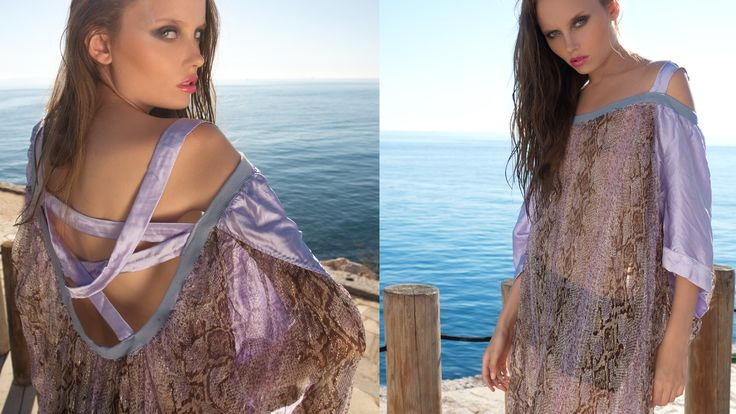 See through lurex caftan with open back www.maurizio.gr