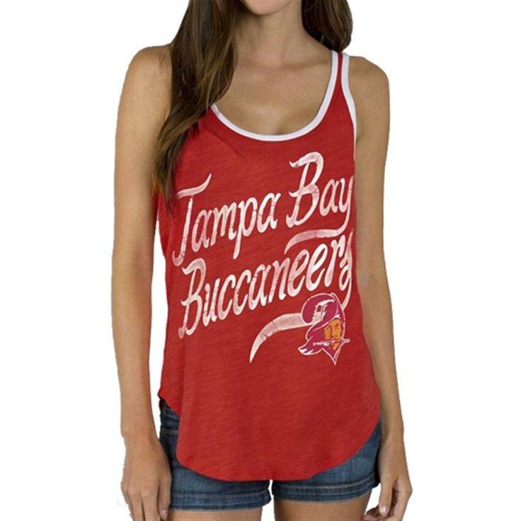 Tampa Bay Buccaneers Junk Food Women's Roster Ringer Tank Top – Red