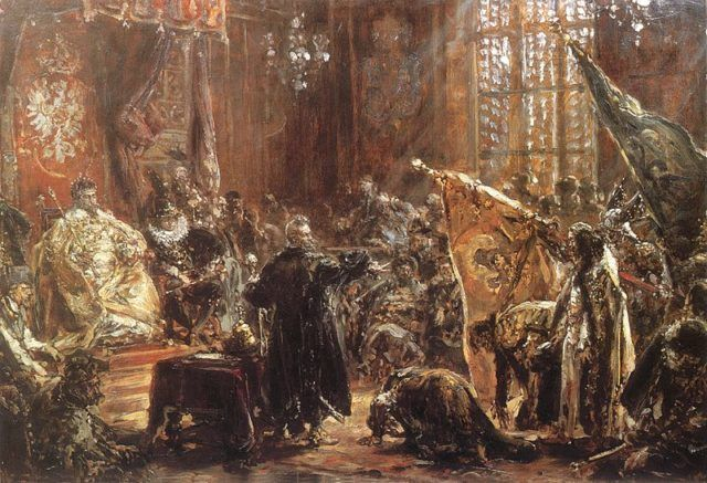 Shuysky Tribute in 1611 (Painting by Jan Matejko / Public Domain / Wikipedia)