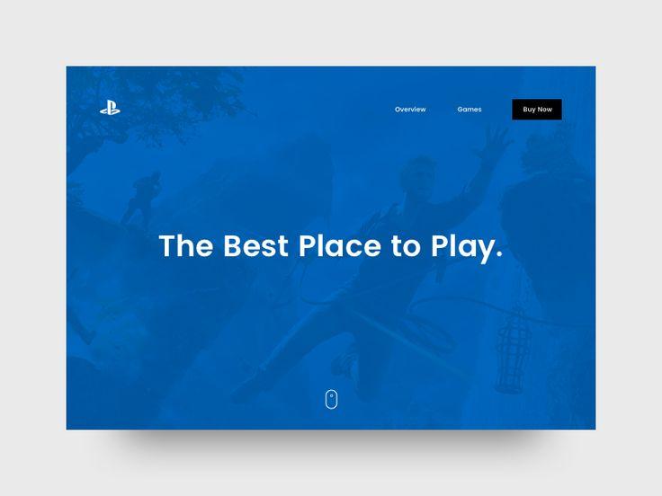 PS4 Website (Concept)
